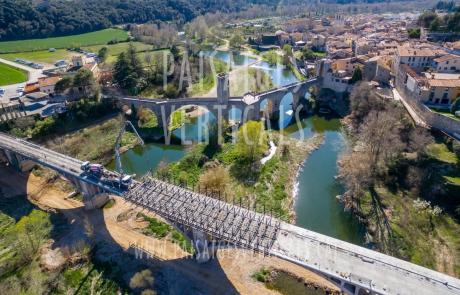 Paisajes Verticales - Fotografía aérea - INFRAESTRUCTURAS Y OBRA CIVIL (Puente N-II Besalú)