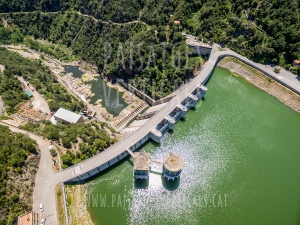 Vertical Landscapes - Aerial Photography - INFRASTRUCTURES (Dam of Sau)