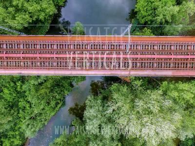 Paisatges Verticals – Fotografia aèria – INFRAESTRUCTURES I OBRA CIVIL (Pont Eiffel sobre el riu Ter)