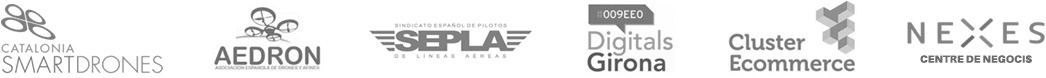 logotipos de las asociaciones de las que es miembro la empresa Paisajes Verticales